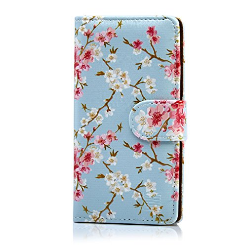 32nd floreale series custodia a portafoglio in pelle pu con disegno - I nuovi prodotti di Sony Primavera 2016 #SonySpringParty