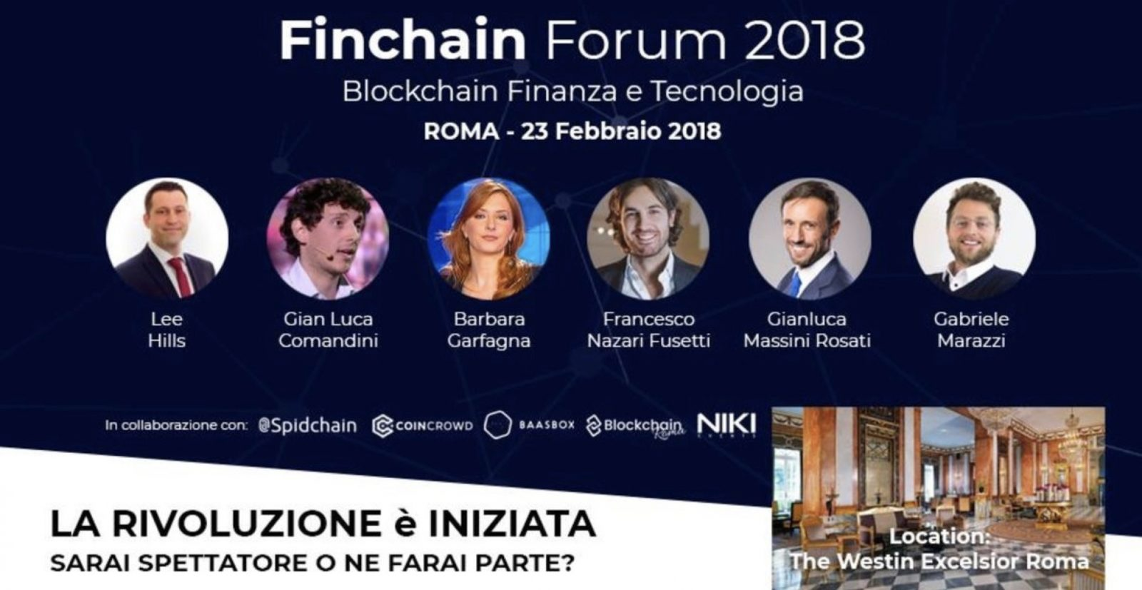 Finchain Forum 2018 con Barbara Carfagna - Finchain Forum 2018 con Barbara Carfagna: oltre 1.000 presenze in sala ed oltre 500 connessi in live streaming