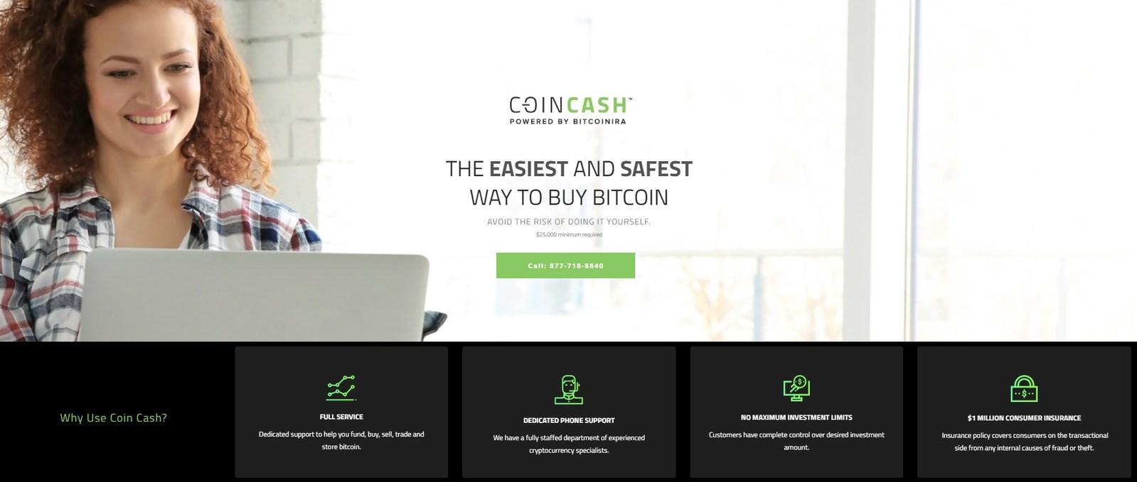 coincash - Coin Cash, il primo servizio completo di acquisto di Bitcoin