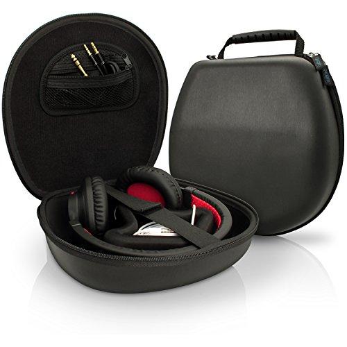 igadgitz nero eva custodia da trasporto rigida borsa per cuffie auricolari - Cuffie Bluetooth: ecco le Jabra Stealth UC