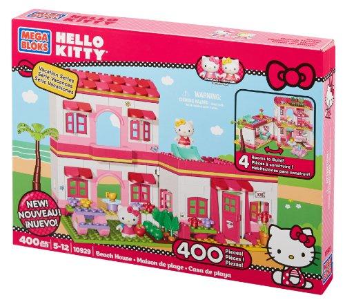 mega bloks 10822u accessori bambola casa sulla spiaggia di hello kitty - La casa di Hello Kitty per trascorrere le vacanze
