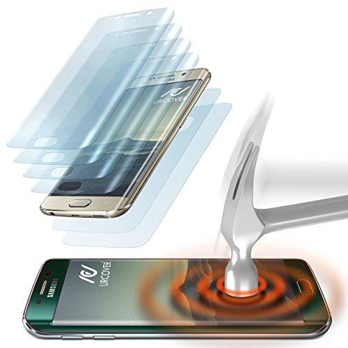 pellicola vetro temperato galaxy s6 edge urcover 4x foglio protettivo - Come saranno i cellulari del futuro? Curvi, tanto da dondolare
