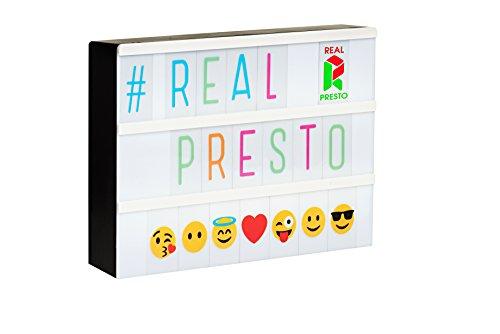 real presto cinematic lightbox formato a4 con 85 lettere nere 85 lettere - Nuovi iPhone, in fila per il 5s color oro: è quello che piace di più