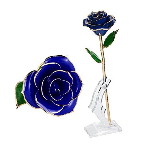 rosa regalo fiore 24k oro migliore regalo per valentino festa della mama - Migliore regalo per la festa della mamma: un estrattore di succo Princess