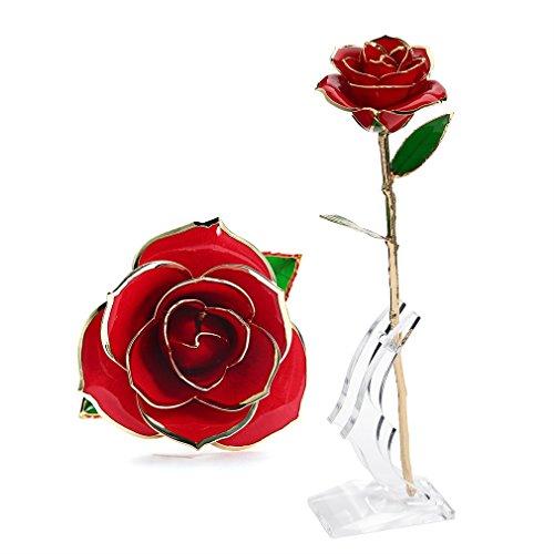 rosa regalo fiore u kiss oro 24k rosa in confezione regalo con clear display - Regali di San Valentino: le proposte tecnologiche di Toshiba