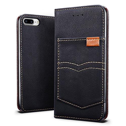 sleo cover iphone 7 plus iphone 8 plus sleo custodia con pocket retro flip - Come proteggere l'abitazione con stile: webcam Myfox Security