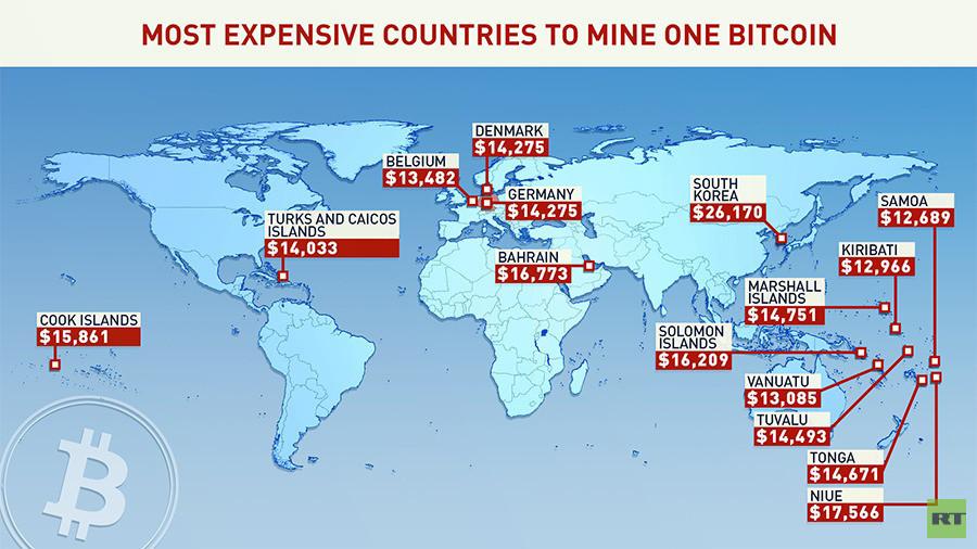 Minare Bitcoin la mappa dei paesi piu o meno convenienti per aprire una miniera 2 - Minare Bitcoin: la mappa dei paesi più o meno convenienti per aprire una miniera