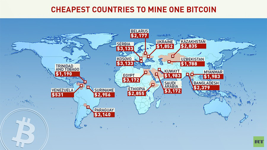 Minare Bitcoin la mappa dei paesi piu o meno convenienti per aprire una miniera - Minare Bitcoin: la mappa dei paesi più o meno convenienti per aprire una miniera