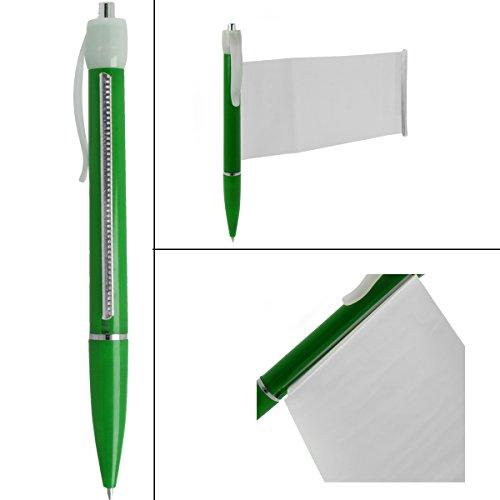 penna per appunti con bigliettino integrato e srotolabile verde 1 - Copiare durante i compiti in classe con lo Smartwatch: la nuova frontiera tecnologica per chi non ha voglia di studiare