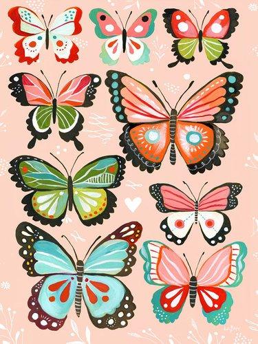wheatpaste art collective canvas wall art rosa farfalle di katie daisy 18da - Il modo migliore per trovare lavoro diventerà Facebook, nuovi problemi per Linkedin