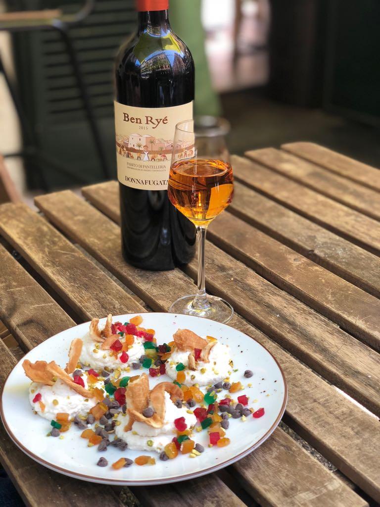 """cannolo scomposto - Vini Donnafugata da """"Orto Erbe e Cucina"""" per la Milano Food Week"""