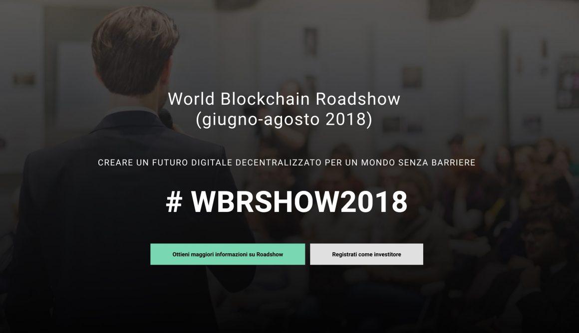 World Blockchain Roadshow attira investitori 1160x668 - World Blockchain Roadshow 2018 attira investitori in 20 città attraverso il pitching