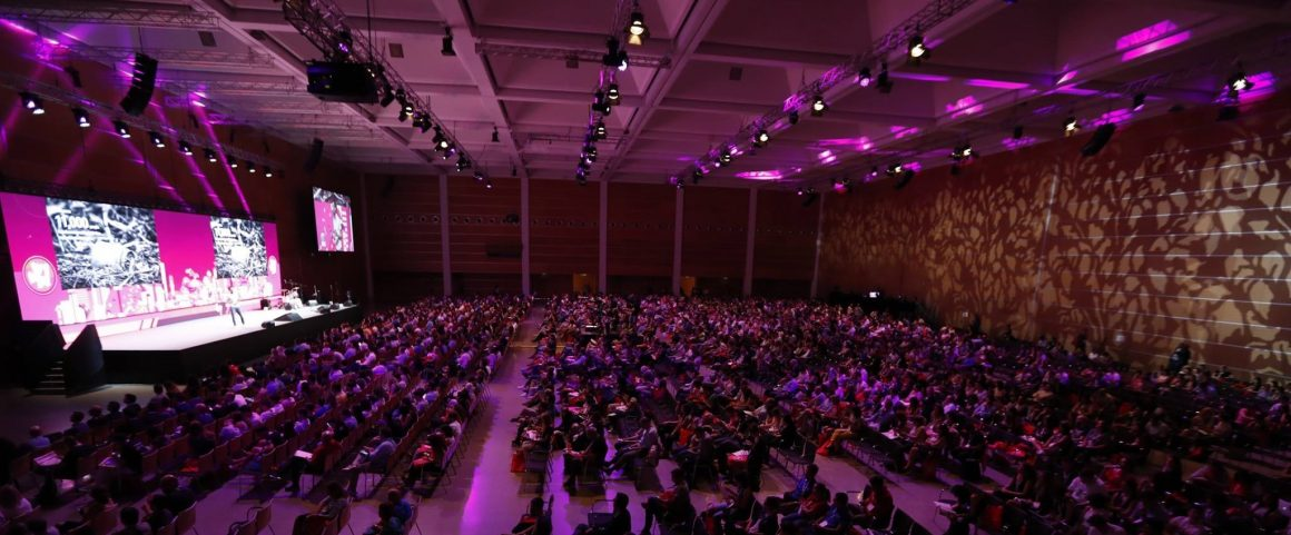 plenaria wmf18 1160x481 - Fitprime vince la 5^ Startup Competition del Web Marketing Festival. Trionfo anche per le startup young Tripeasy e Domius nella sala dedicata a progetti innovativi
