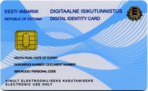 "e residency id card 300x186 - Papa Francesco nuovo ""e-resident"" in Estonia"