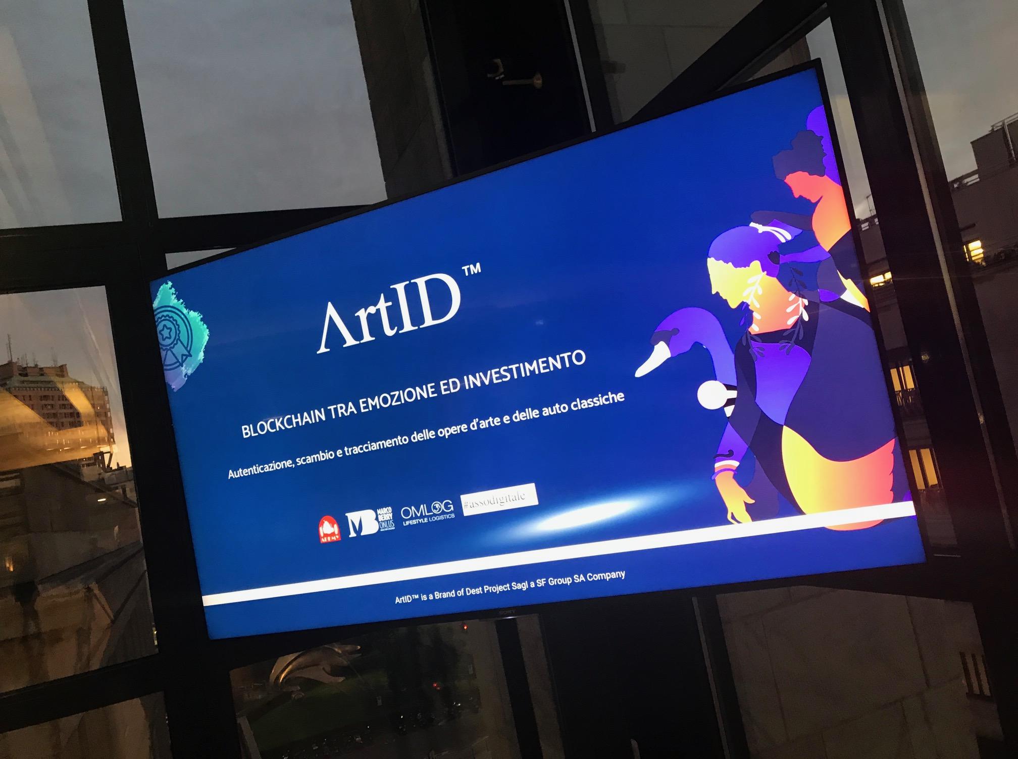 schermo Artid lancio servizio comunita finanziaria milanese prestigioso evento museo 900 - Artid lancia il servizio dinanzi alla comunità finanziaria milanese in un prestigioso evento al museo del 900