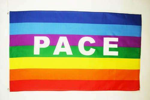 bandiera arcobaleno pace 150x90cm bandiera pace rainbow flag 90 x 150 cm - Istituto Diplomatico Internazionale. Focus su 52° Giornata mondiale della pace