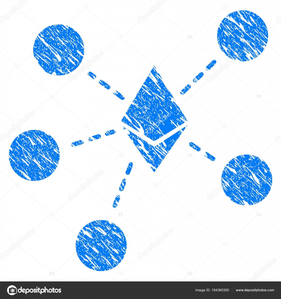 depositphotos 164360350 stock illustration ethereum net structure grunge icon - Le transazioni on-chain sulla rete Ethereum hanno raggiunto il picco nello scorso dicembre