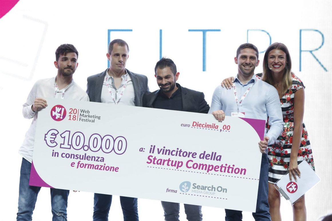 Fitprime premio vincitori 1160x773 - #wmf19 Web Marketing Festival 2019: al via la sesta edizione della Startup Competition