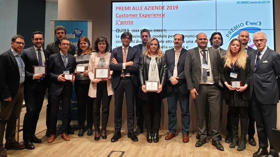 gruppo19 CX - Club CMMC -Customer Management Multimedia Competence- assegna i premi 2019