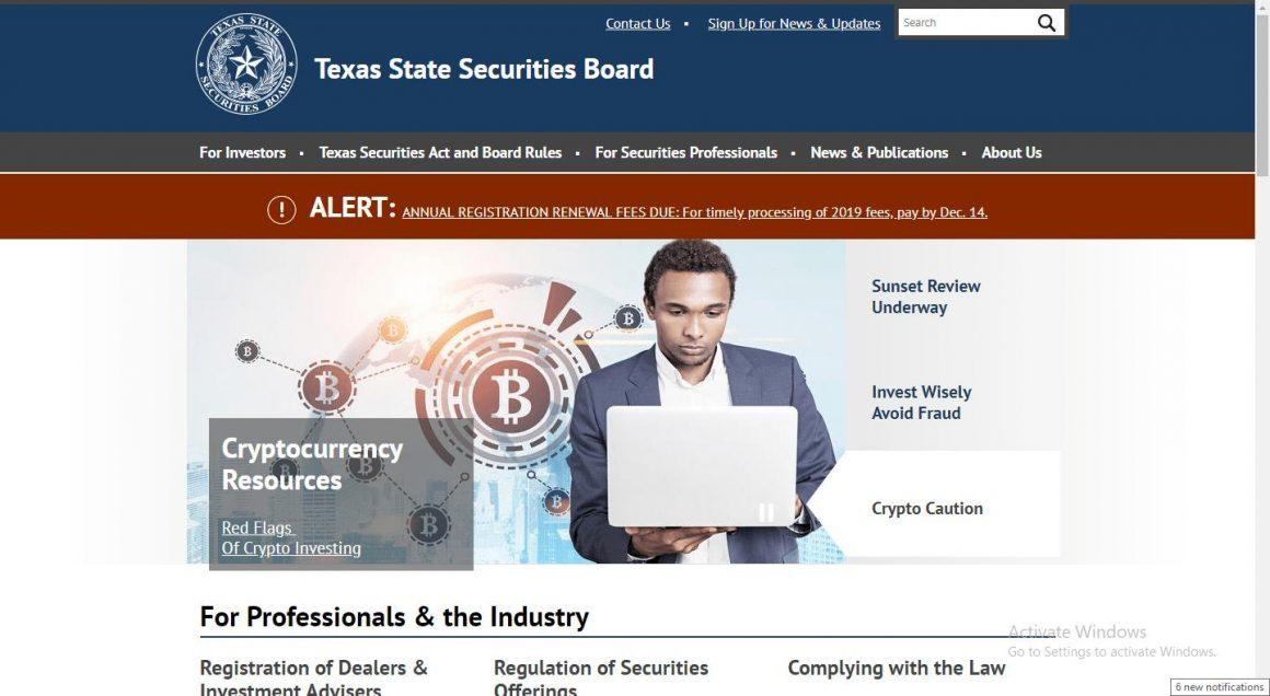 texas state securities board impone azioni di emergenza contro la dubbia societa criptovaluta 1160x636 - Texas State Securities Board impone azioni di emergenza contro la dubbia società criptovaluta