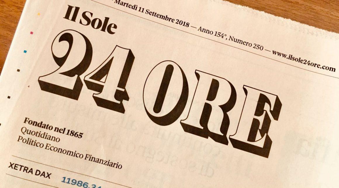 Il sole 24 ore 1160x643 - Gruppo Sole 24 Ore: nuovo assetto organizzativo