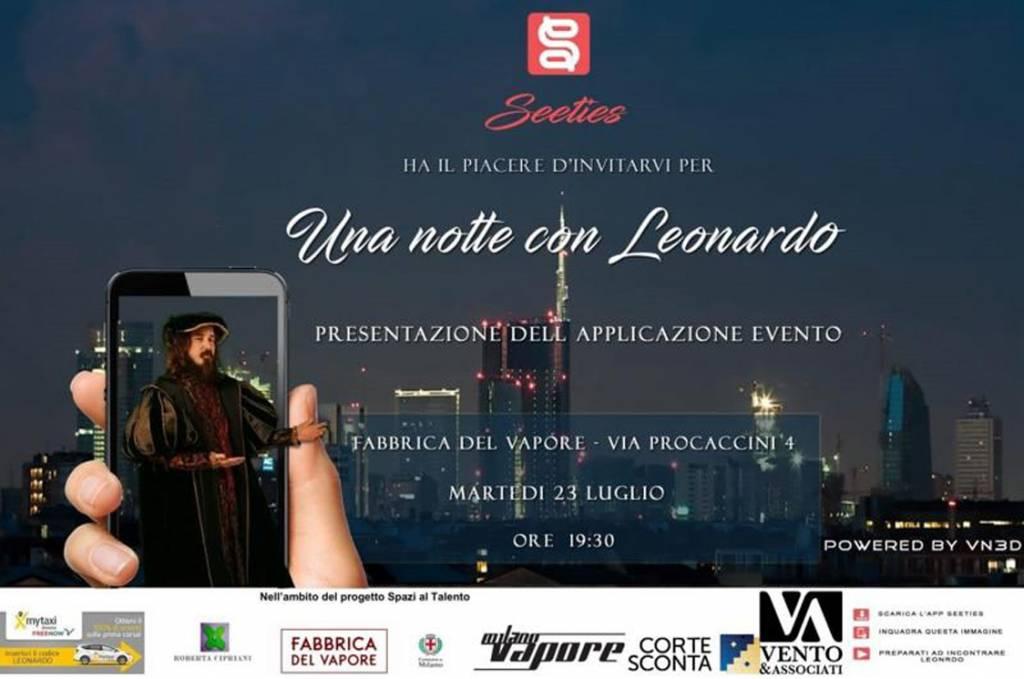 Una notte con Leonardo alla Fabbrica del Vapore 1024x679 - Una notte con Leonardo alla Fabbrica del Vapore Martedì 23 luglio dalle 19.30