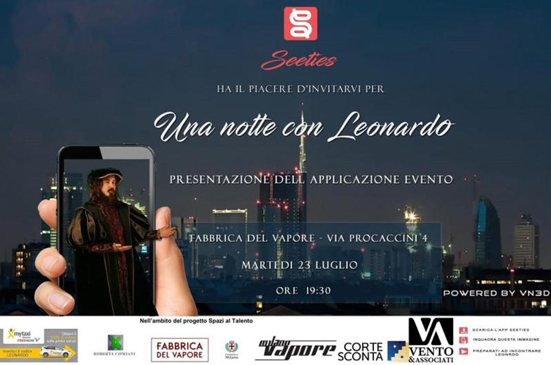 Una notte con Leonardo alla Fabbrica del Vapore - Una notte con Leonardo alla Fabbrica del Vapore Martedì 23 luglio dalle 19.30