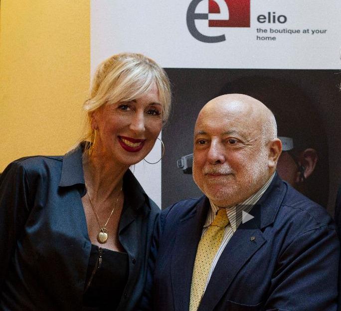 Paolo e Francesca alla serata Elio - Lanciata la piattaforma ELIO per il mercato del lusso
