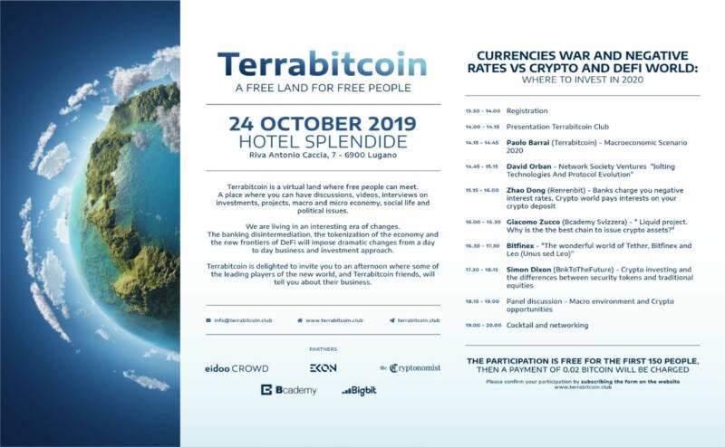 TERRABITCOIN INVITO DI GALA HOTEL SPLENDIDE LUGANO 800x494 - Terrabitcoin: il nuovo esclusivo Crypto Club si presenta a Lugano con un Evento di Gala