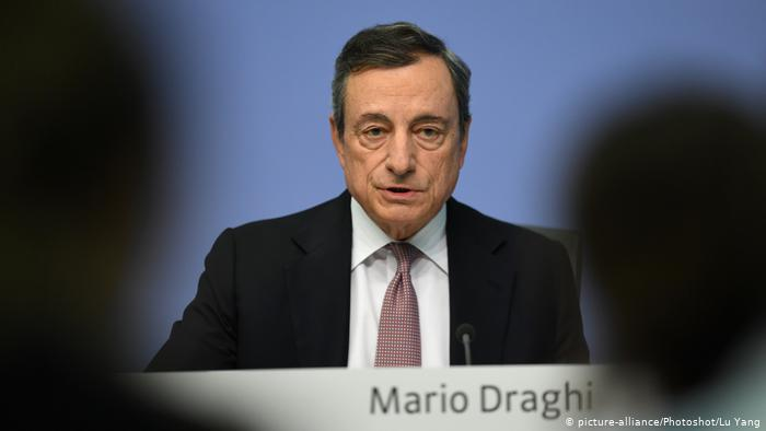 European Central Bank President Mario Draghi speaks during a press conference held at the ECB headquarters in Frankfurt