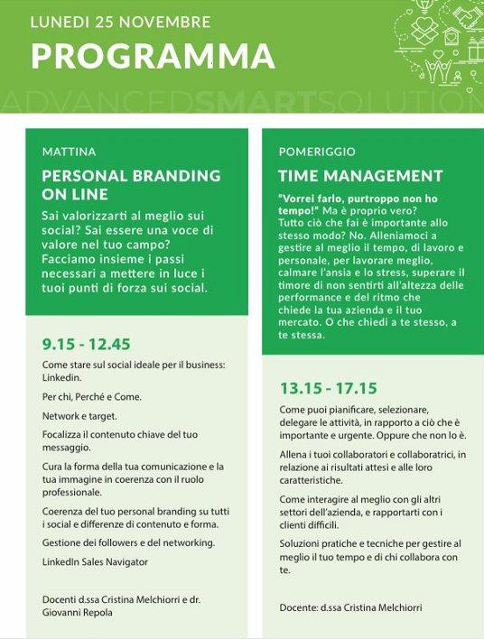 programma cri - Personal branding e time management con Cristina Melchiorri e Giovanni Repola