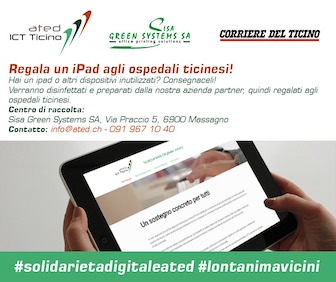 dona il tuo ipad solidarietà digitale ated in collaborazione con assodigitale per il canton ticino - AIPB. Il primo Master in Private Banking e Wealth Management