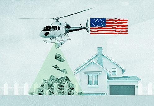 helicopter money 640x360 1 - E' in arrivo altra liquidità a pioggia sulle famiglie americane?